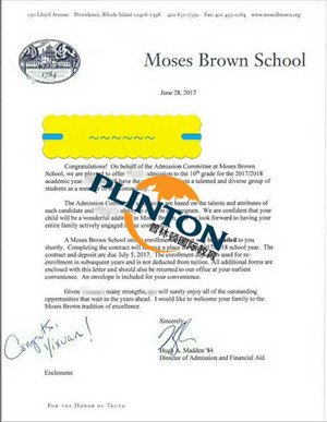 莫斯布朗中学offer