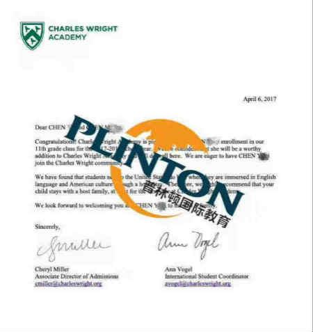 Charles Wright Academy 查尔斯怀特学院录取offer